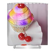 Cherry Cupcake Shower Curtain