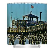Cherry Grove Pier - Closeup End Of Pier Shower Curtain