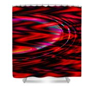 Cherry Red- Shower Curtain