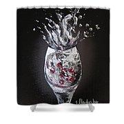 Cherry Splash Shower Curtain