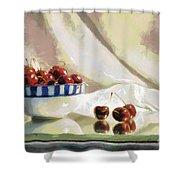 Cherry Still Life Shower Curtain