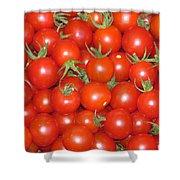 Cherry Tomato Harvest Shower Curtain