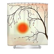 Cherry Tree In Fall Shower Curtain
