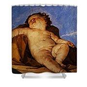 Cherub Sleeps 1627 Shower Curtain