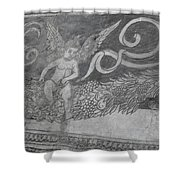 Cherub Stone Graffiti 2 Shower Curtain