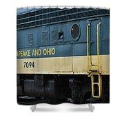 Chesapeake And Ohio Boxcar  Shower Curtain