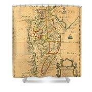 Chesapeake Bay 1786 Shower Curtain