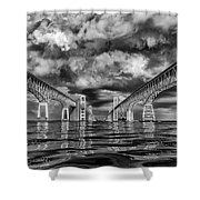 Chesapeake Bay Bw Shower Curtain