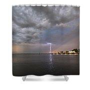 Chesapeake Bay Rainbow Lighting Shower Curtain