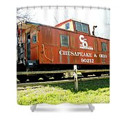 Chesapeake -ohio Rr Shower Curtain