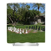 Chess At The Biltmore Shower Curtain