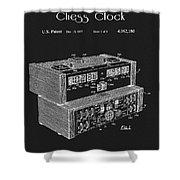 Chess Clock Patent Shower Curtain