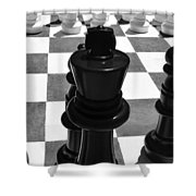 Chess Pano Shower Curtain
