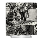 Chess Player Shower Curtain
