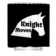 Chess Player Gift Knight Moves Horse Lover Chess Lover Shower Curtain