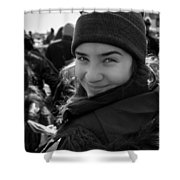Chessy Smile Shower Curtain
