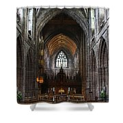 Chester Cathedral England Uk Inside The Nave Shower Curtain