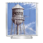 Chester Water Tower Poster Shower Curtain