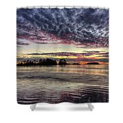 Chesterman Beach Sunset Shower Curtain