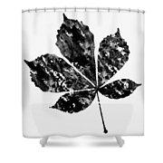 Chestnut Leaf Shower Curtain
