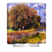 Chestnut Tree Blooming 1881 Shower Curtain
