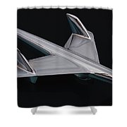 Chevrolet Bel Air Hood Ornament Shower Curtain