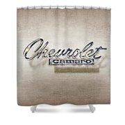Chevrolet Camaro Badge Shower Curtain