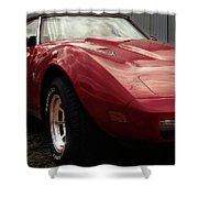 Chevrolet Corvette 1977 Shower Curtain