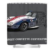 Chevrolet Corvette Convertible L88 1968,original Fast Race Car Shower Curtain