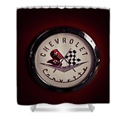 Chevrolet Corvette, Corvette Logo Shower Curtain