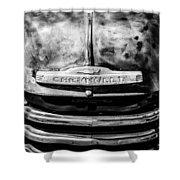 Chevrolet Truck Grille Emblem -0839bw1 Shower Curtain