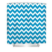 Chevron Pattern - Pick Your Color Shower Curtain by Mark E Tisdale