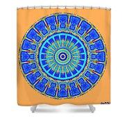 Chevrons Mandala Shower Curtain