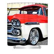 Chevy Apache Custom Hot Rod Truck Shower Curtain