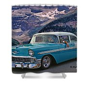 Chevy At Lake Louise Shower Curtain