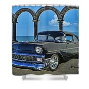 Chevy Belair In Mexico Shower Curtain
