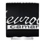 Chevy Camaro Emblem Shower Curtain