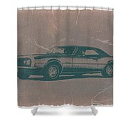 Chevy Camaro Shower Curtain by Naxart Studio