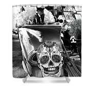 Chevy Decor Day Of Dead Bw Shower Curtain