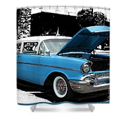 Chevy Love 1956 Shower Curtain