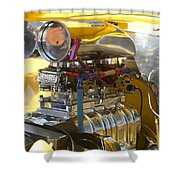 Chevy Motor Shower Curtain