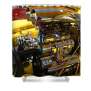Chevy Motor - Side View Shower Curtain