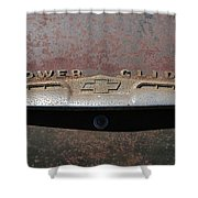 Chevy Power Glide Trunk Emblem Shower Curtain