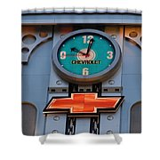 Chevy Times Square Clock Shower Curtain