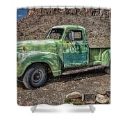 Chevy Truck Route 66 Shower Curtain