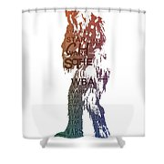 Chewbacca Typography Shower Curtain