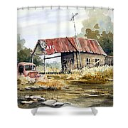 Cheyenne Valley Station Shower Curtain