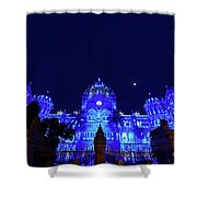 Chhatrapati Shivaji Terminus  Formerly Victoria Terminus In Mumbai-2 Shower Curtain