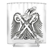 Chi Eagle Shower Curtain