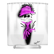 Chic In Pink Silk Couture  Shower Curtain
